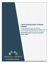 Video Surveillance Storage Market by Technology (DAS, SAN, NVR, NAS, DVR, Unified Storage), by Media...
