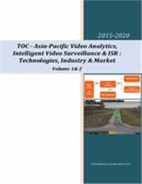 Video Analytics, ISR & Intelligent Video Surveillance: Asia-Pacific Market-2015-2020