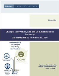 Change, Innovation, and the Communications Industry: Global ODAM '10 to Watch' in 2016
