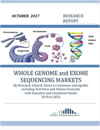 WHOLE GENOME and EXOME SEQUENCING MARKETS 2018 to 2022