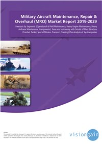 Military Aircraft Maintenance, Repair & Overhaul (MRO) Market Report 2019-2029