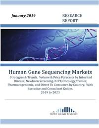 Human Gene Sequencing Markets, Strategies & Trends.  Volume & Price Forecasts 2019 to 2023
