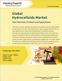 Global Hydrocolloids Market - Raw Materials, Products and Applications