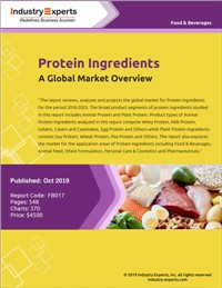 Protein Ingredients - A Global Market Overview