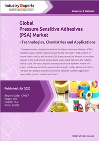 Global Pressure Sensitive Adhesives (PSA) Market – Technologies, Chemistries and Applications